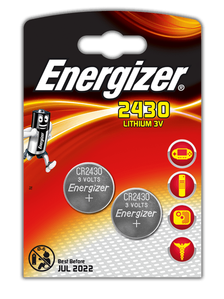 Energizer<sup>®</sup> Electronic Batteries – CR2430