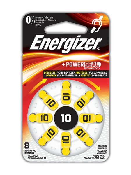 Energizer<sup>&reg;</sup> Hearing Aid Batteries &#8211; 10