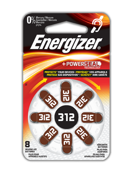 Energizer<sup>&reg;</sup> Hearing Aid Batteries &#8211; 312