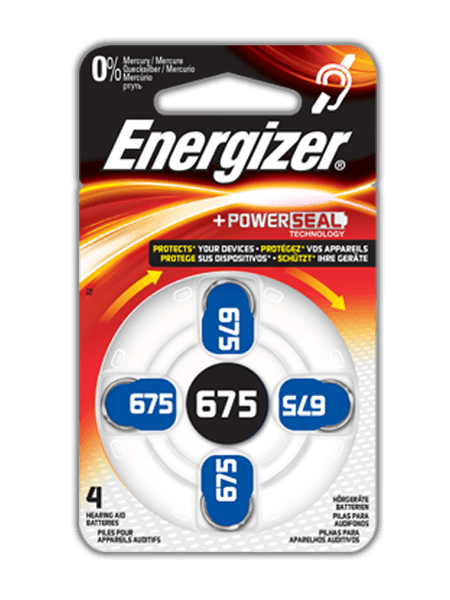 Energizer® Hearing Aid Batteries – 675